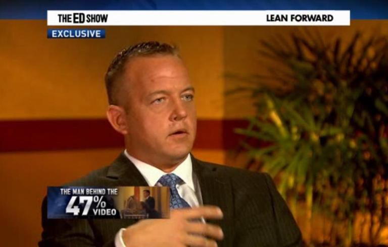 Scott Prouty speaks to Ed Schultz on MSNBC's The Ed Show. (MSNBC screenshot)