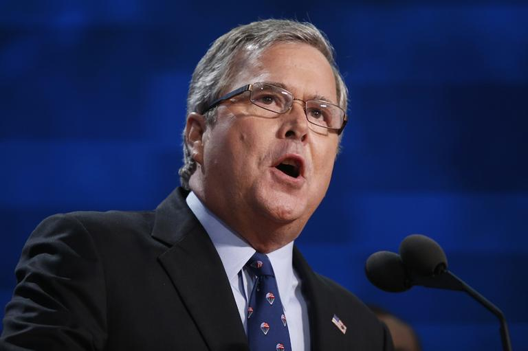 Former Florida Governor Jeb Bush addresses the Republican National Convention in Tampa, Fla., on Thursday, Aug. 30, 2012. (Jae C. Hong/AP)