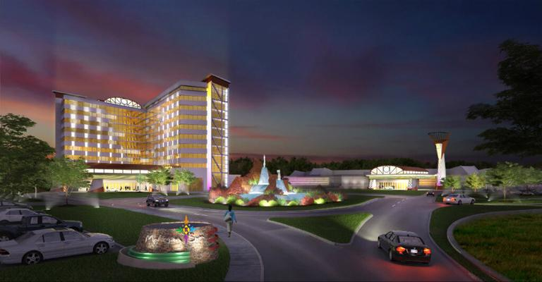 Artist's rendering of Mohegan Sun's casino proposal for Palmer (Courtesy)