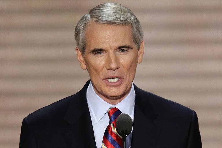 Ohio Senator Rob Portman addresses the Republican National Convention in Tampa, Fla., on Wednesday, Aug. 29, 2012. (J. Scott Applewhite/AP)