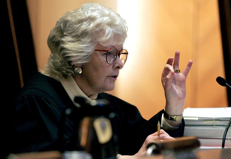 Massachusetts Supreme Judicial Court Chief Justice Margaret Marshall, author of the 2003 majority decision allowing gay marriage, is pictured in May 2005. (George Rizer/AP)