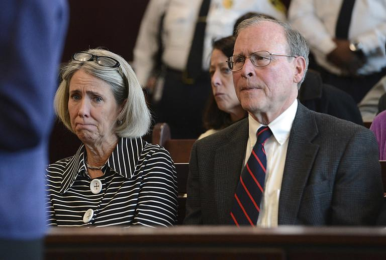Mary Dunne and Malcolm Astley, parents of Lauren Astley. (Ken McGagh/MetroWest Daily News/AP Pool)