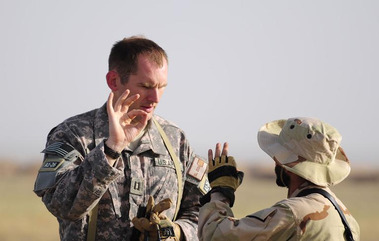 Army infantry and special forces officer Andrew Slater is pictured in Iraq. (Courtesy Andrew Slater)