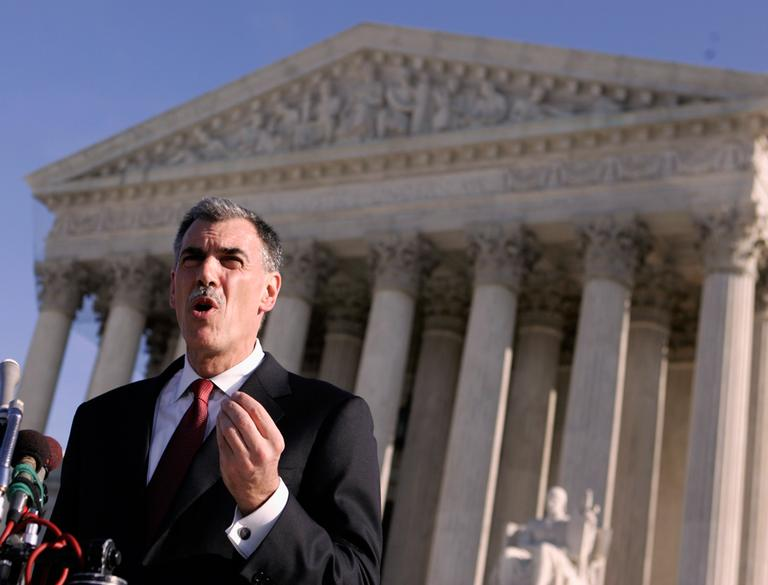 Solicitor General Verilli, pictured here in 2007, will argue before the high court this week whether it is legal for patent-holding pharmaceutical companies to pay generic drugmakers to temporarily keep their cheaper versions of brand-name drugs off the market. (Evan Vucci/AP File)