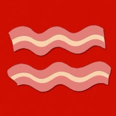 Bacon equals sign.