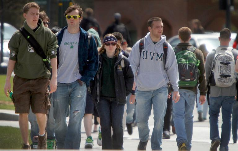 Students at the University of Vermont. (AP)