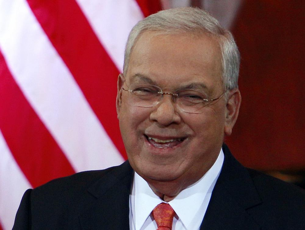 Boston Mayor Tomas Menino smiles during applause at Faneuil Hall in Boston, Thursday, March 28, 2013, where he announced he would not seek an unprecedented sixth term. (Bill Sikes/AP)