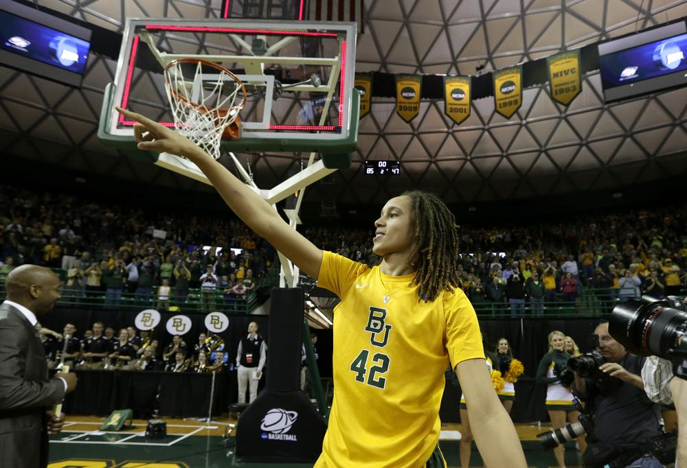 After leading Baylor to a national championship in 2012, senior Brittney Griner is hoping to add a second title to her resume this season. (Tony Gutierrez/AP)