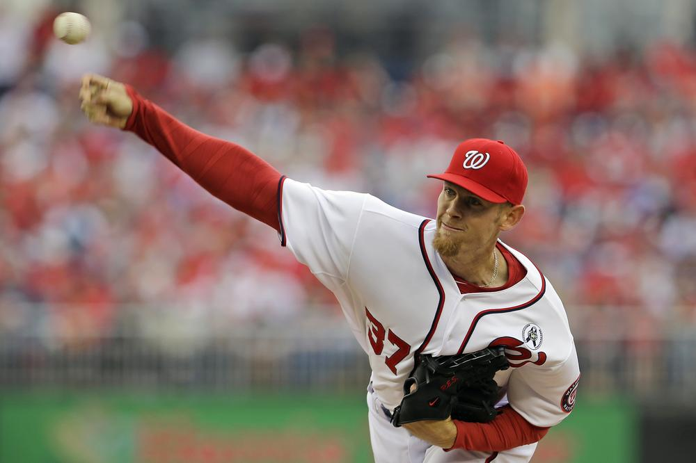 Ace Stephen Strasburg isn't the only talented pitcher on the Nationals roster. (Alex Brandon/AP)