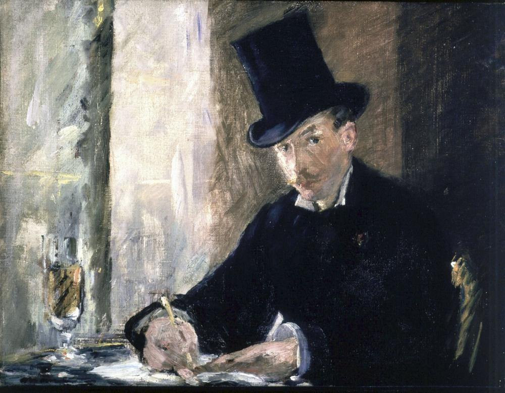 "This undated photograph released by the Isabella Stewart Gardner Museum shows the painting ""Chez Tortoni"" by Manet, which was part of the collection at the museum. Burglars stole treasured art objects in an early morning robbery at the museum on March 18, 1990 in Boston. (Isabella Stewart Gardner Museum/AP)"