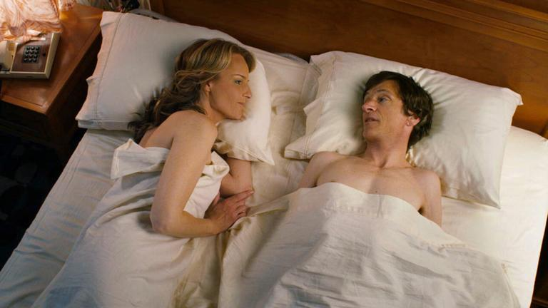 """This publicity photo released by Fox Searchlight Pictures shows Helen Hunt, left, and John Hawkes in a scene from """"The Sessions."""" Hunt was nominated for an Academy Award for best supporting actress on Thursday, Jan. 10, 2013, for her role in the film. The 85th Academy Awards will air live on Sunday, Feb. 24, 2013 on ABC. (AP Photo/Fox Searchlight Pictures)"""