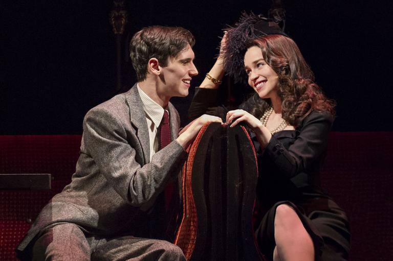 """Cory Michael Smith and Emilia Clarke in the new play, """"Breakfast at Tiffany's"""""""