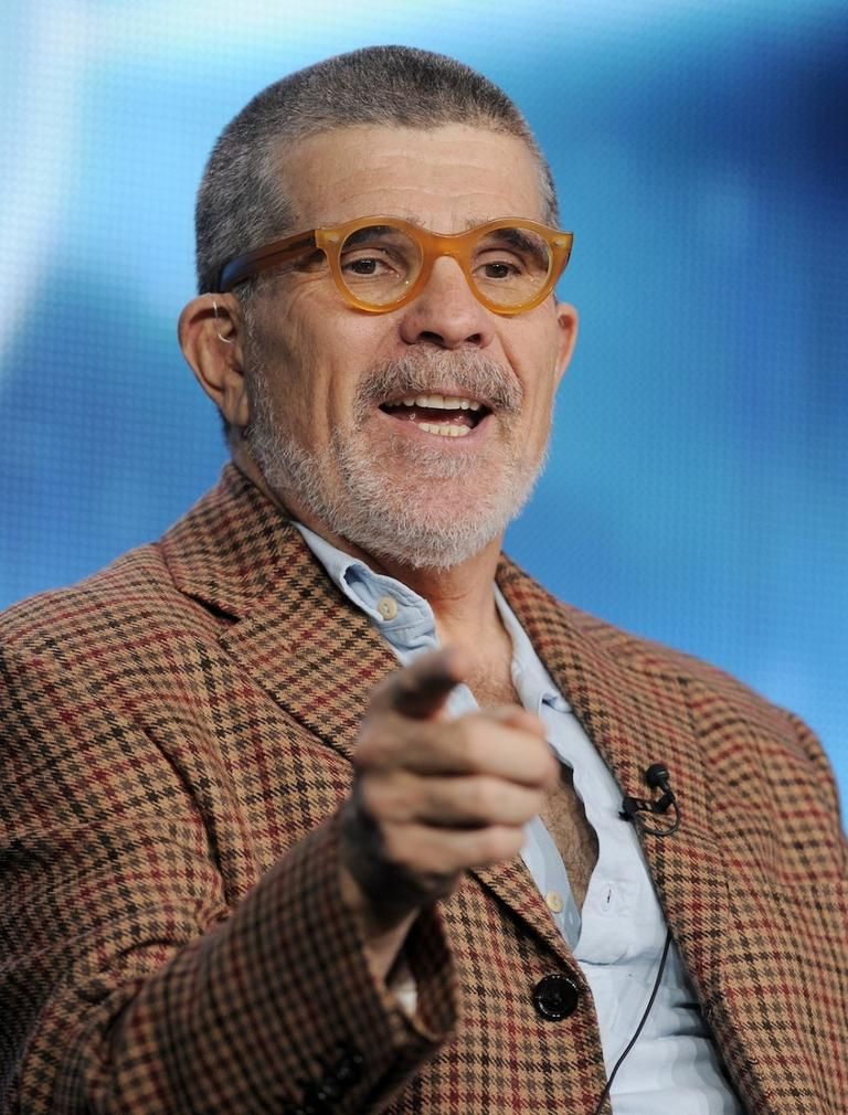 David Mamet speaking to the Television Critics Assn. (Chris Pizzello/Invision/AP)