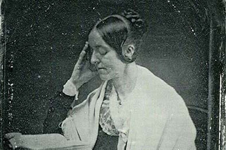 The only known daguerreotype of Margaret Fuller, by John Plumbe, 1846. (Wikimedia Commons)