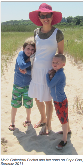 marie pechet and her sons, 2011