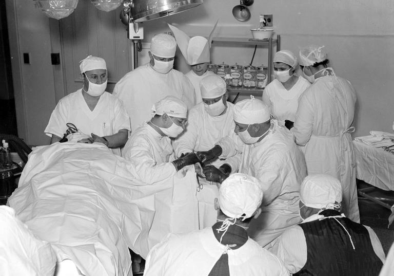 Medical specialties like surgery are still seen as hostile to many female doctors. (Boston Public Library)