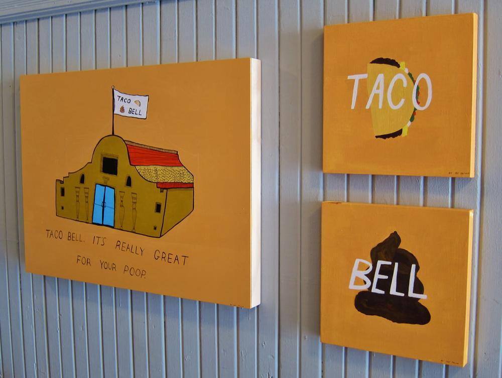 Pat Falco's take on Taco Bell. (Courtesy of Hallway Gallery)