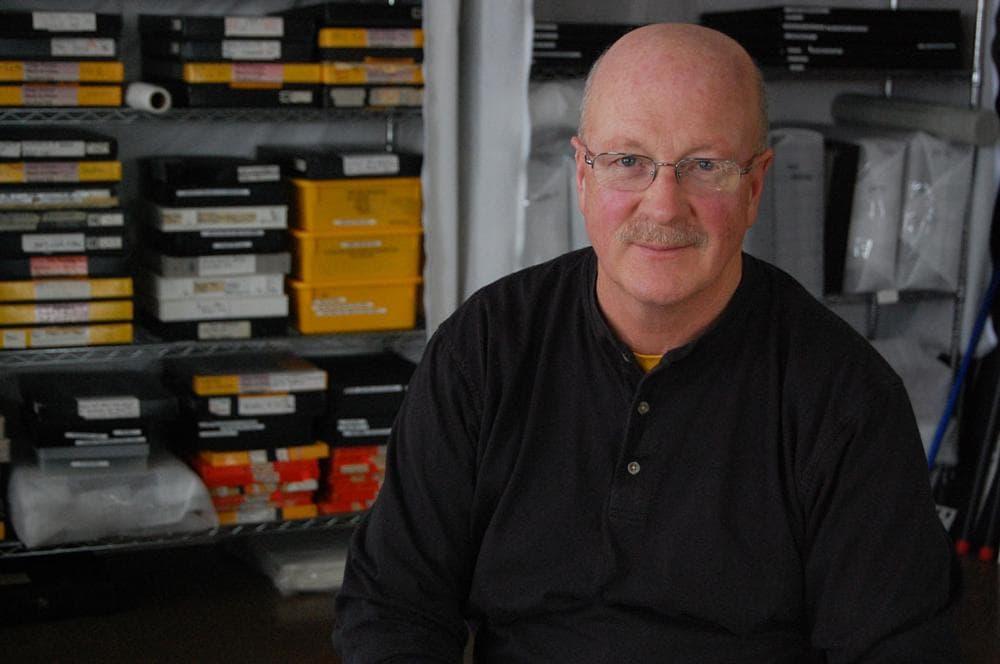 Photographer Neal Rantoul in his Boston studio. (Greg Cook)