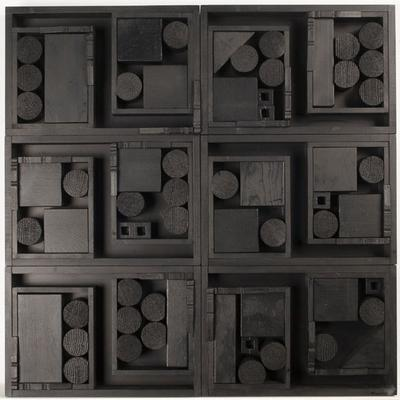 "Louise Nevelson's ""Diminishing Reflection XXVII,"" 1965, in bright light. (Courtesy of Davis Museum)"