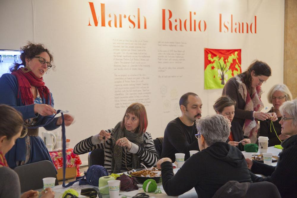 """""""Stitching the Shore"""" get-together at Boston University March 6. (Courtesy of Plotform)"""