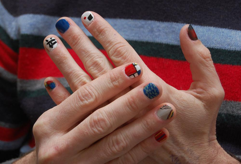 """""""Each manicure is an opportunity to meditate over the Modernist legacy while sprawling canvases of the early 20th century are recreated in miniature on your hands."""" (Victoria Shen)"""