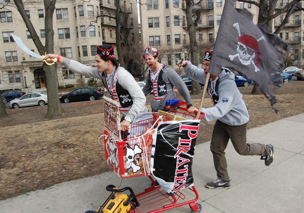 Boston Urban Iditarod racers. (Greg Cook)