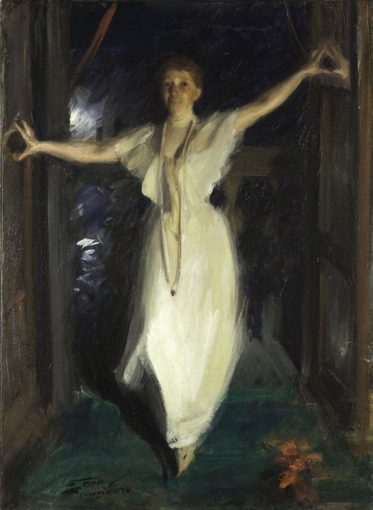 "Anders Zorn's 1894 painting ""Isabella Stewart Gardner in Venice."" (Courtesy Gardner Museum)"