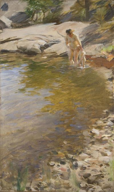"Anders Zorn's 1888 painting ""The Morning Toilet."" (Courtesy Gardner Museum)"