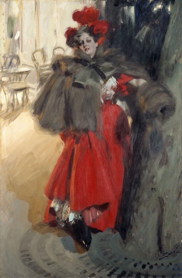 "Anders Zorn's 1895 painting ""Night Effect."" (Courtesy Gardner Museum)"