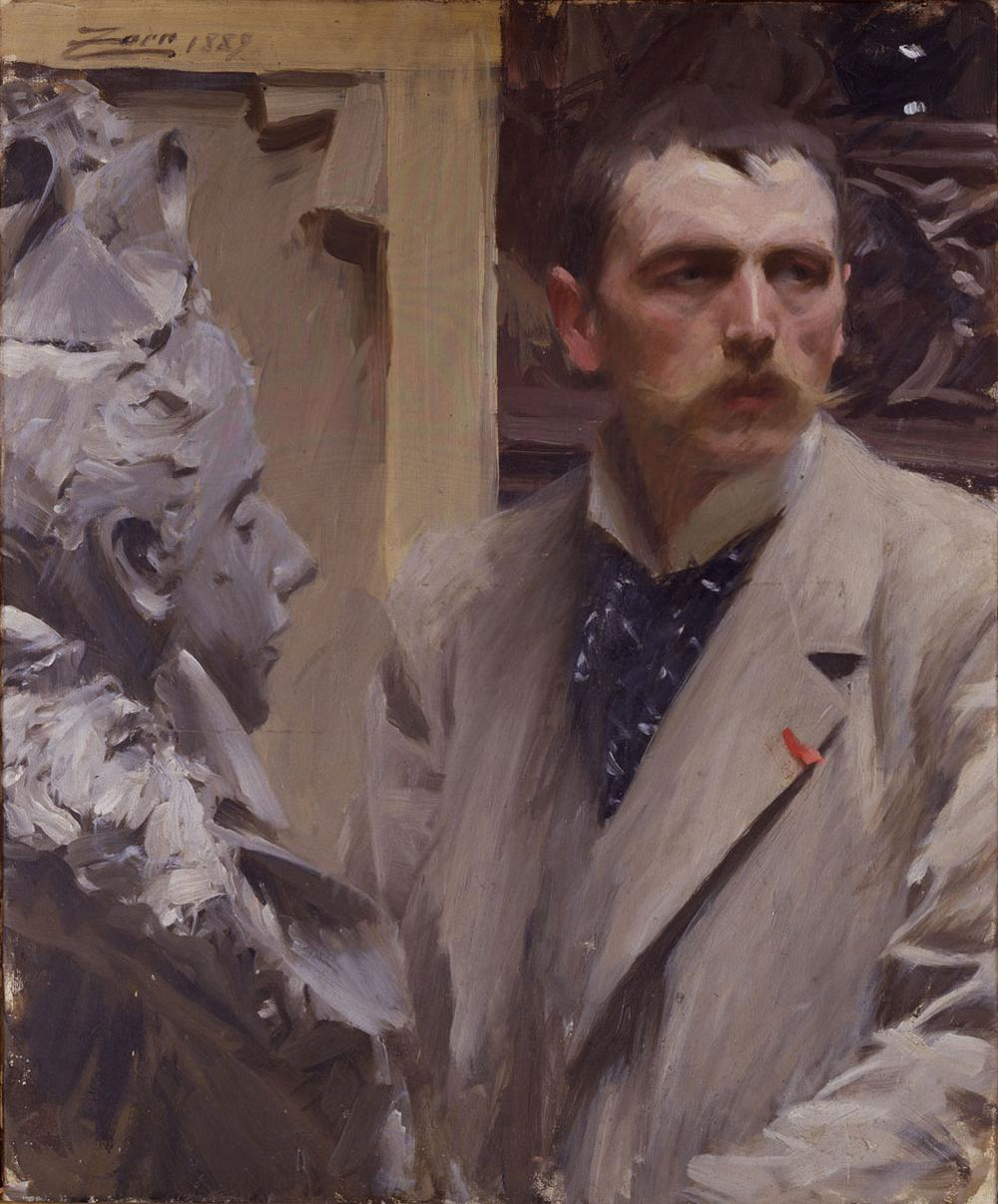 "Anders Zorn's 1889 ""Self-Portrait"" for the Uffizi Gallery. (Courtesy Gardner Museum)"