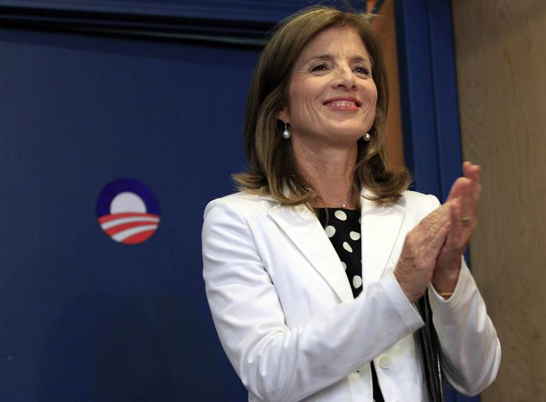 Caroline Kennedy at a campaign event for President Obama's re-election in Nashua, N.H. on June 27, 2012. (Elise Amendola/AP)