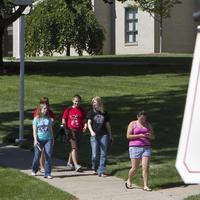 In this 2010 file photo, students at Dana College in Blair, Nebraska, walk to the admissions office. (Nati Harnik/AP)