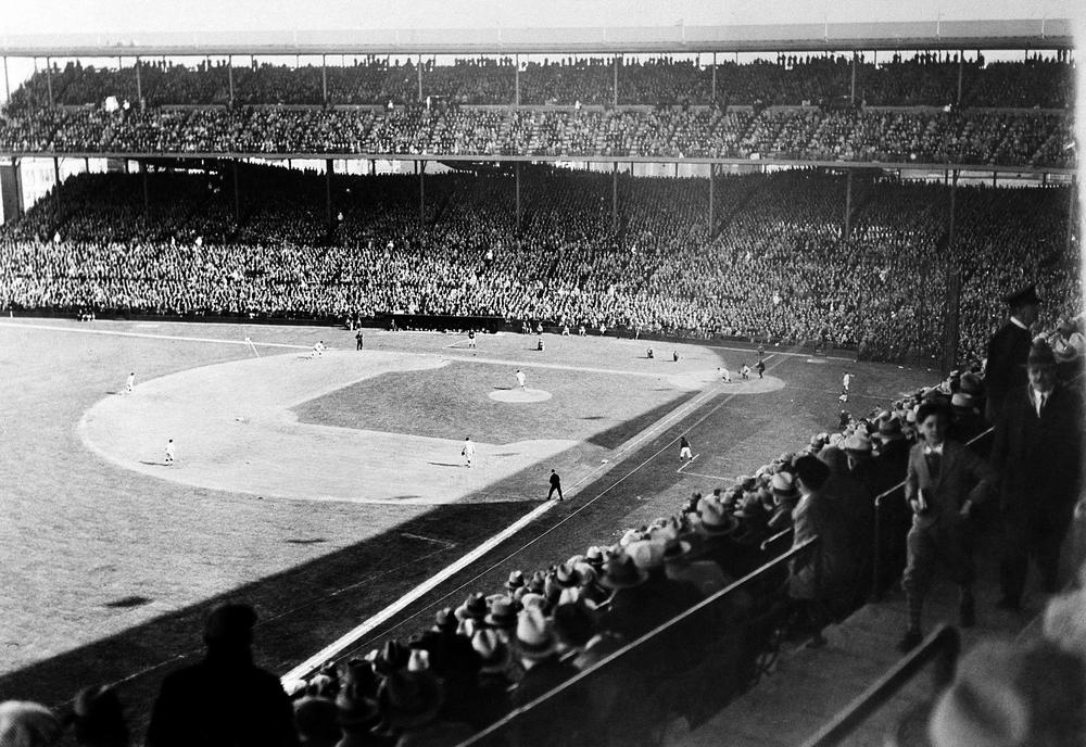 Fans packed Wrigley Field for the Chicago Cubs' season opener against the Pittsburgh Pirates on April 16, 1929. (AP)