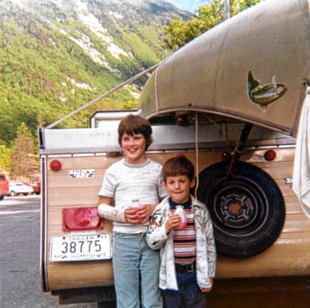 Annmarie Timmins, left, as a child with her brother on vacation in Franconia Notch (Courtesy Annmarie Timmins)