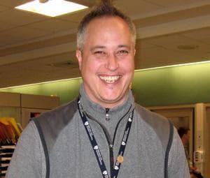 David Crump, violence recovery specialist at Boston's Brigham and Women's Hospital (Sacha Pfeiffer/WBUR)