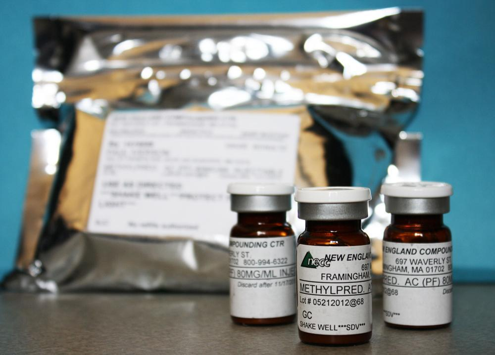 This photo provided by the Minnesota Department of Health shows shows vials of the injectable steroid product made by New England Compounding Center implicated in a fungal meningitis outbreak that were being shipped to the CDC from Minneapolis. (Minnesota Department of Health/AP)