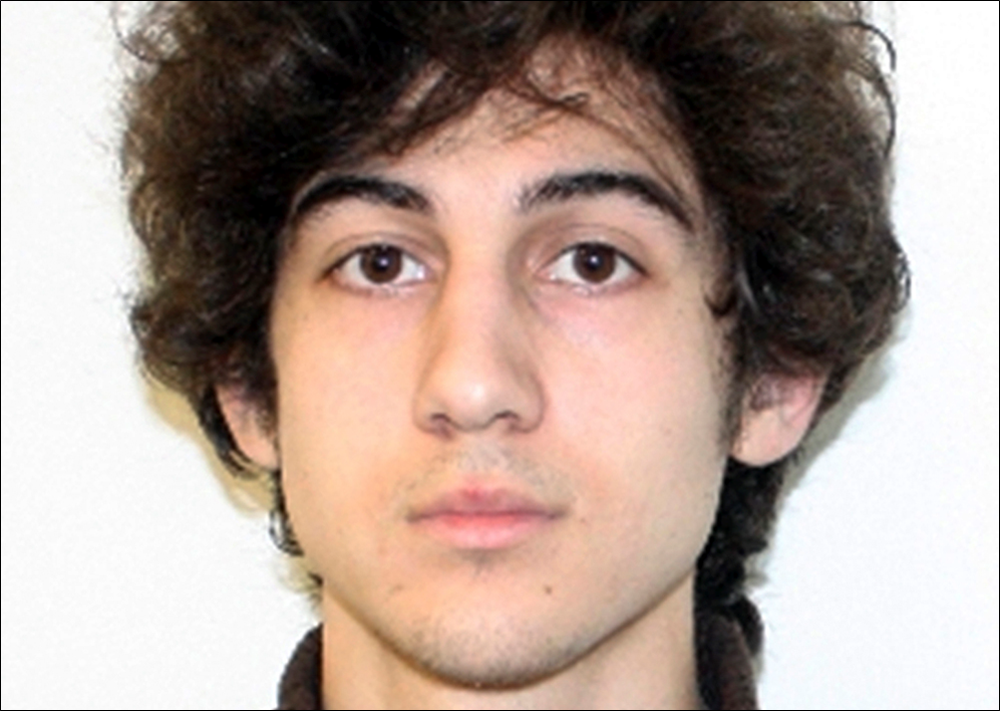 This photo released Friday, April 19, 2013 by the Federal Bureau of Investigation shows a suspect that officials identified as Dzhokhar Tsarnaev, being sought by police in the Boston Marathon bombings Monday. (FBI)