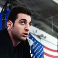 This images shows what is believed to be Tamerlan Tsarnaev practicing boxing at the Wai Kru Mixed Martial Arts center, April 2009, in Boston