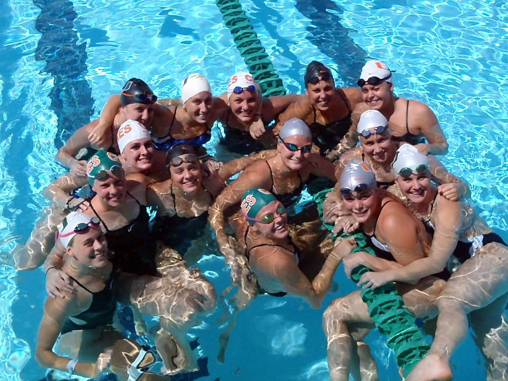 Hatic with her teammates at the University of Miami. (Courtesy of Christine Anderson)