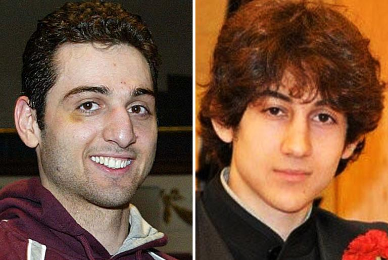 This combination of undated file photos shows Boston Marathon bombing suspects Tamerlan Tsarnaev, 26, left, and Dzhokhar Tsarnaev, 19. (The Lowell Sun & Robin Young/Here & Now)