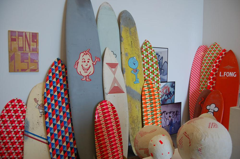 McGee's surfboards. (Greg Cook)