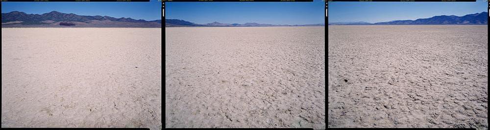 "Bruce Myren's photo at ""N 40° 00' 00"" W 116° 00' 00"" Saddler Brown Road, Eureka, Nevada,"" 2012. (Courtesy of Myren.)"