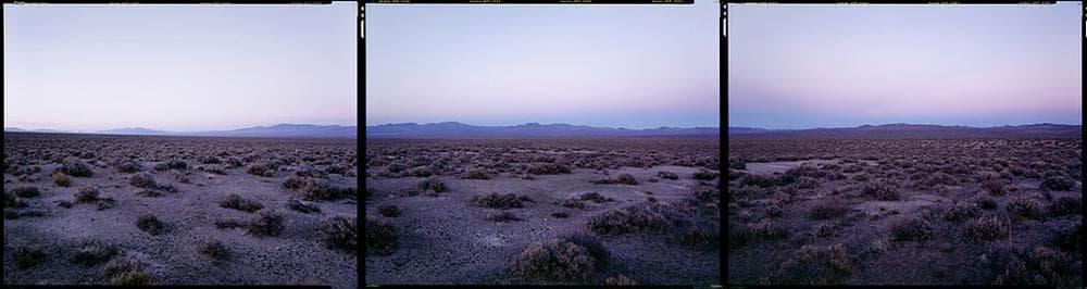 """Bruce Myren's photo at """"N 40° 00' 00"""" W 119° 00' 00"""" Fernley, Nevada,"""" 2012. (Courtesy of Myren.)"""