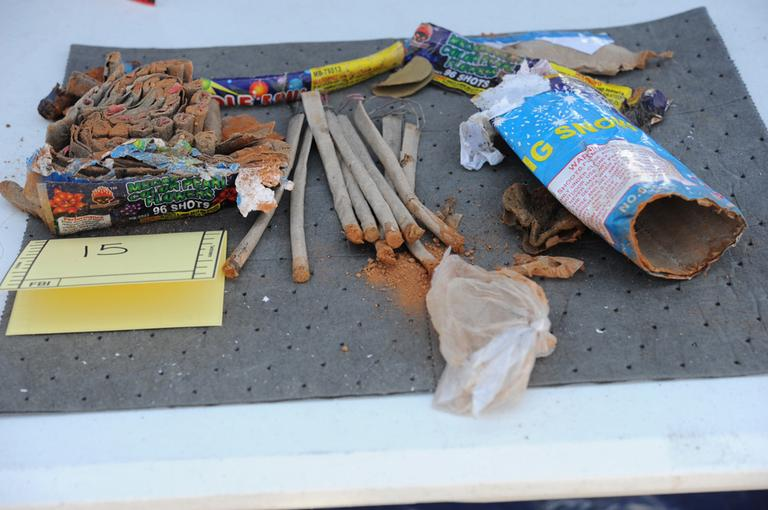 Fireworks agents recovered from Tsarnaev's backpack (U.S. Attorney's Office)