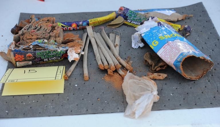 Authorities say they recovered these fireworks from Dzhokhar Tsarnaev's backpack (click to enlarge). (U.S. Attorney's office)