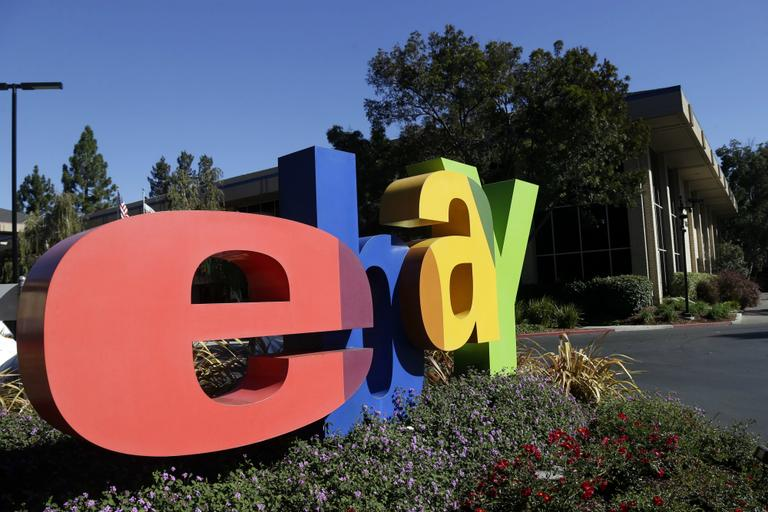 An eBay sign decorates the front of the company's headquarters in San Jose, Calif., Wednesday, Oct. 17, 2012. (Marcio Jose Sanchez/AP)