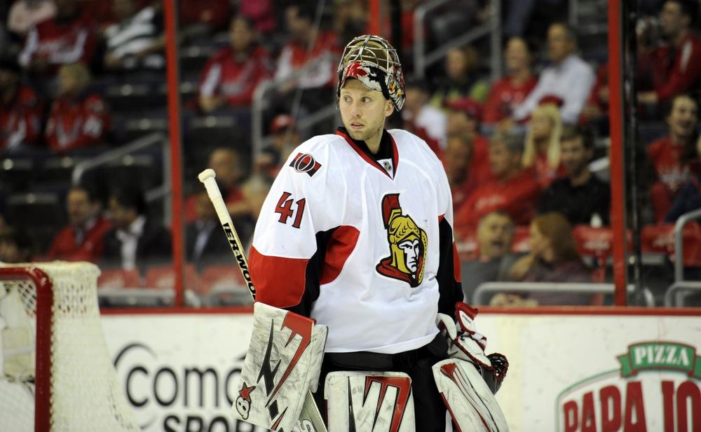 Ottawa Senators goalie Craig Anderson stopped 95 percent of the shots he faced in his team's 4-1 series victory over the Montreal Canadiens. (Nick Wass/AP)