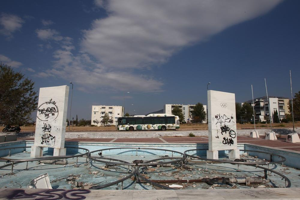 In Athens, many of the venues from the 2004 Olympic Games remain abandoned or rarely used. This site, shown in 2012, was an Olympic fountain. (AP)