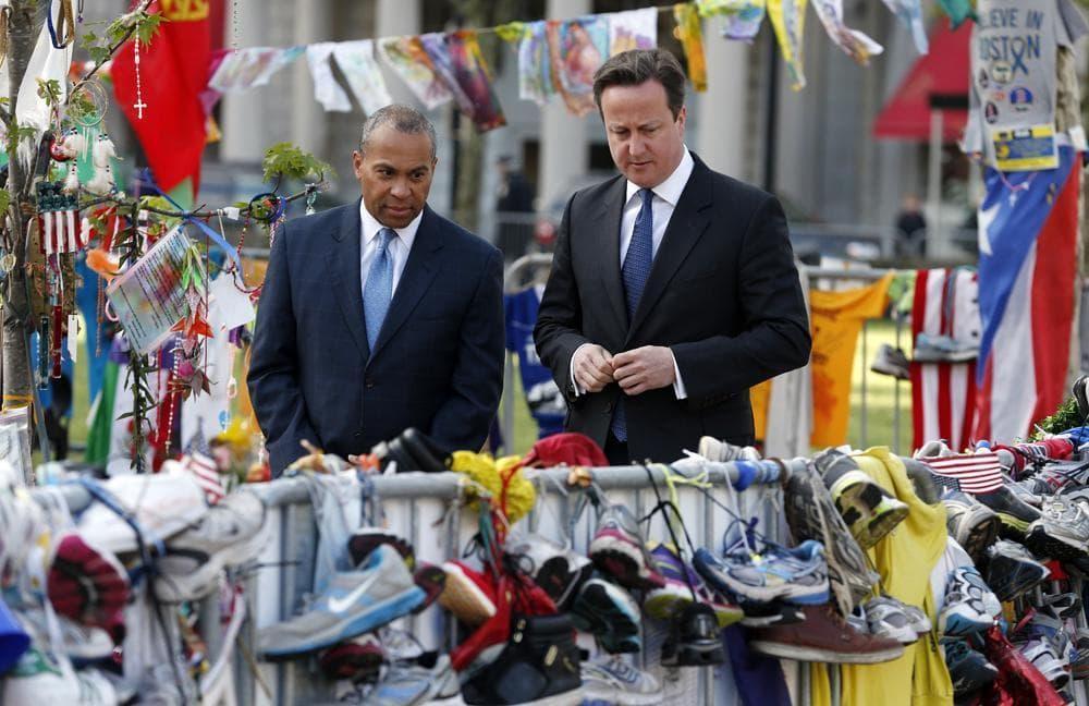 On Eve Of British Pm Camerons Visit >> British Pm Cameron Visits Boston Marathon Bombing Memorial