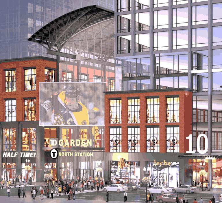 An artist's rendering of the new project filing at the TD Garden